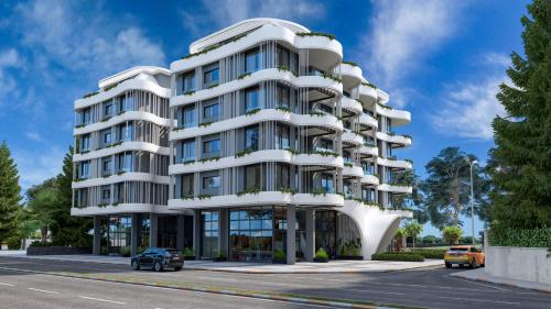 Проект нового жилого комплекса в скандинавском стиле на первой линии, Аланья, Каргыджак. Продажа.