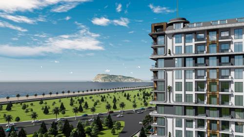 Проект в Тосмуре с панорамным видом на Аланью, Аланья, Тосмур. Продажа.