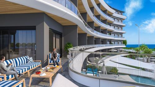 Этот комплекс обещает стать символом роскошной жизни на первой береговой линии Средиземного моря, Аланья, Каргыджак. Продажа.