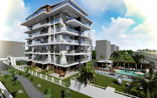Проект жилых резиденций с видом на море в районе Кестель, Аланья, Кестель. Продажа.