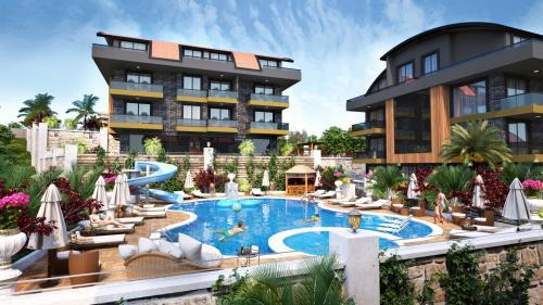 Совершенно новый жилой проект в одном из самых красивых районов Аланьи, Аланья, Центр. Продажа.