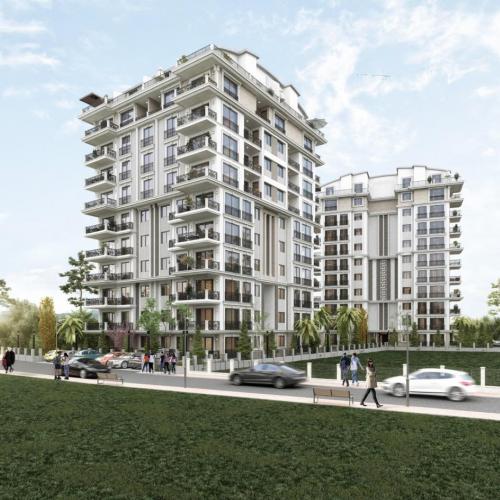 Новый жилой проектв центре  в 600 метрах от Средиземного моря, Аланья, Центр. Продажа.