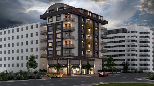 Совершенно новый жилой проект в 200 метрах от моря, Аланья, Махмутлар. Продажа.