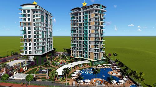 Совершенно новый проект с великолепным видом на горы и море, Аланья, Махмутлар. Продажа.